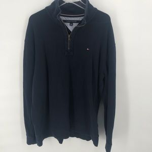 Blue Tommy Hilfiger 1/2 Zip Pullover Mens Size XXL